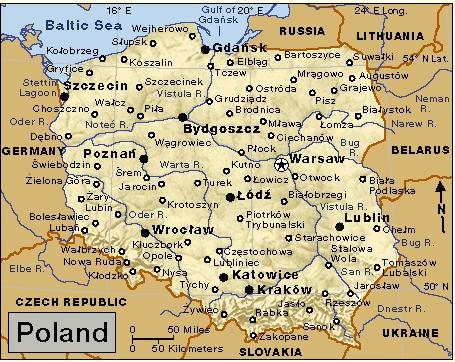 Capital Of Poland Map.Poland