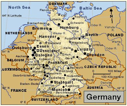Mapjpg - Germany map jena